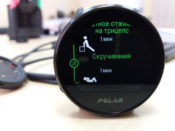 Polar Ignite функция FitSpark силовая тренировка примеры упражнений